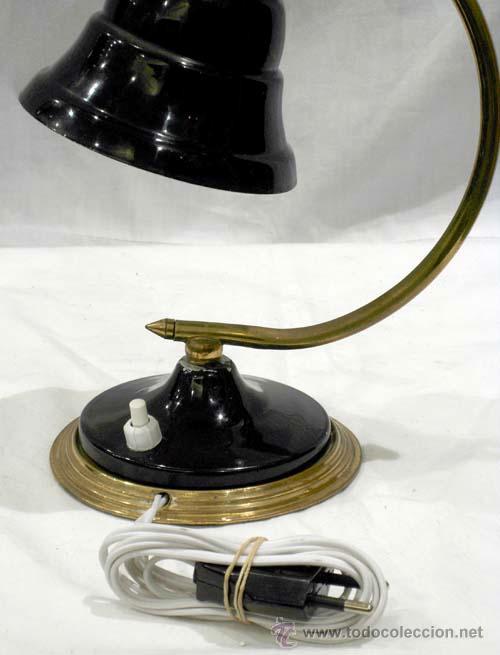 Vintage: Lámpara mesita noche metal color negro - Foto 5 - 11501657