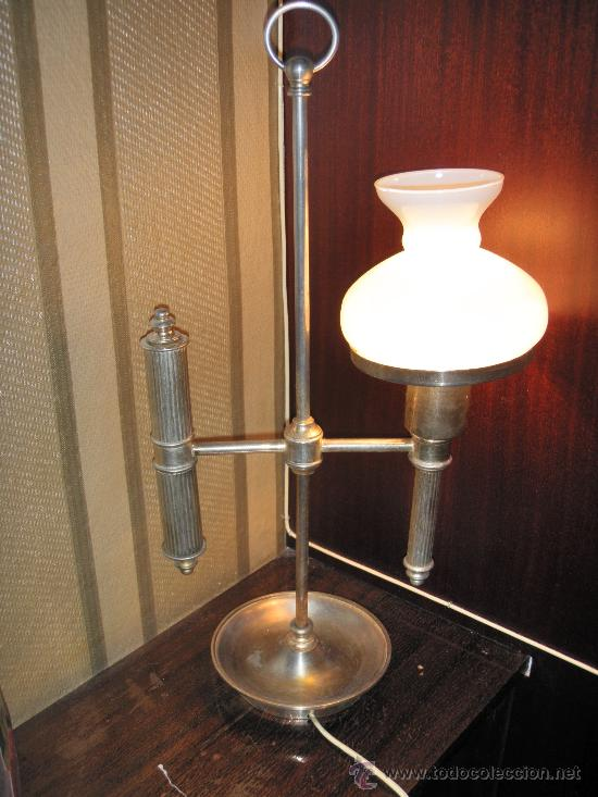 LÁMPARA TIPO BARCO CRISTAL BLANCO 52 X 27 CMS LÁMPARA TIPO BARCO CRISTAL BLANCO (Vintage - Lámparas, Apliques, Candelabros y Faroles)