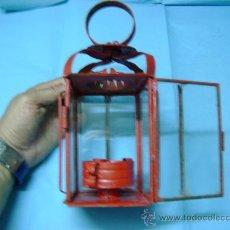 Vintage: LAMPARA FAROL O CANDIL ANTIGUO DE ACEITE. Lote 52435329