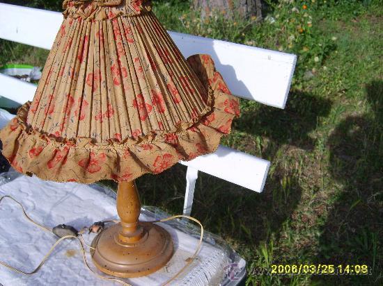 LÁMPARA DE SOBREMESA AÑOS 50 (Vintage - Lámparas, Apliques, Candelabros y Faroles)
