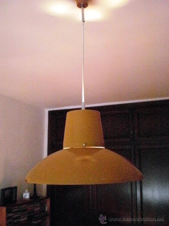 Vintage: Lámpara techo metal ocre años 60 (inspiración danesa) - Foto 2 - 21699627