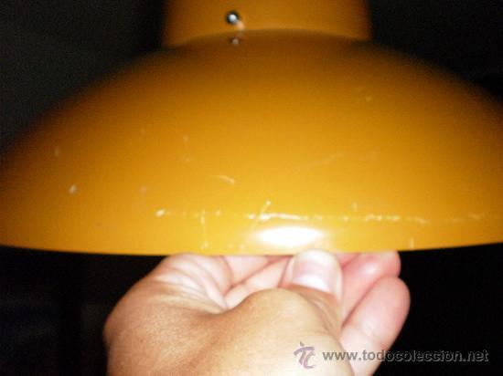 Vintage: Lámpara techo metal ocre años 60 (inspiración danesa) - Foto 5 - 21699627