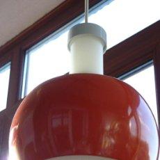 Vintage: LAMPARA DE TECHO OPAL MATE Y ALUMINO NARANJA.STAFF DESIGN W.G.. Lote 50225000