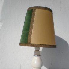 Vintage: LAMPARA MESILLA DE CERAMICA. Lote 23626007