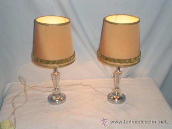 pareja de lmparas de mesita de noche vintage lmparas apliques candelabros