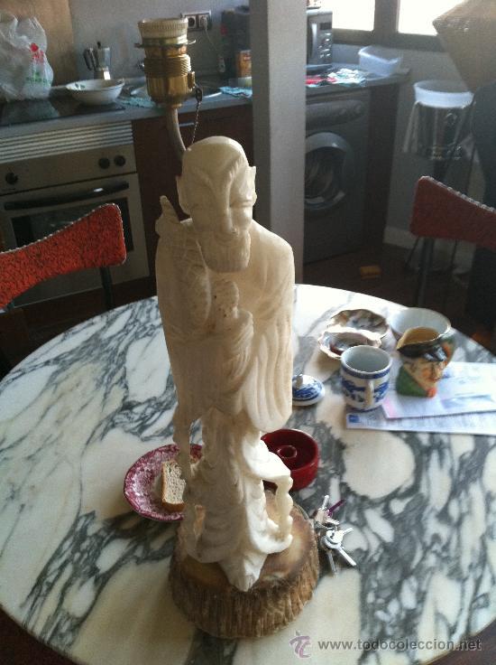 Vintage: lampara años 60 de marmol - Foto 3 - 26024019