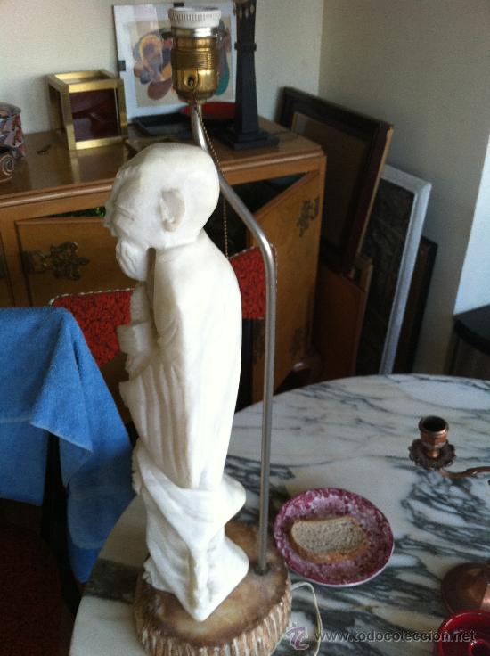 Vintage: lampara años 60 de marmol - Foto 2 - 26024019
