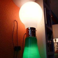 Vintage: LAMPARA DE SUELO CRISTAL DE MURANO VERDE Y BLANCO . Lote 27664468