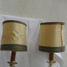 Vintage: PAREJA DE LAMPARAS DE METAL CROMADO. Lote 28196748