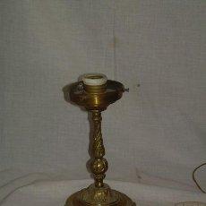 Vintage: PIE DE LAMPARA DE BRONCE ELECTRIFICADO. Lote 28296175