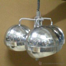 Vintage: LAMPARA GLOBOS ACERO AÑOS 70. Lote 28618820