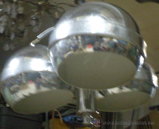 Vintage: LAMPARA GLOBOS ACERO AÑOS 70 - Foto 2 - 28618820