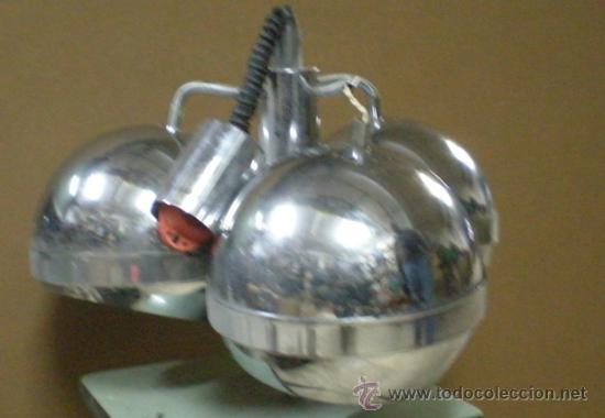 Vintage: LAMPARA GLOBOS ACERO AÑOS 70 - Foto 3 - 28618820
