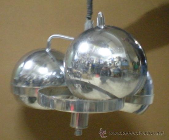 Vintage: LAMPARA GLOBOS ACERO AÑOS 70 - Foto 4 - 28618820