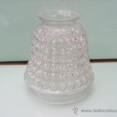 Vintage: TULIPA DE CRISTAL CON RELIEVES - 11,5 CM DE ALTA X 10,5 CM DIAMETRO. Lote 29115254