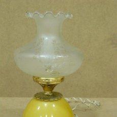 Vintage: LAMPARA DE SOBREMESA. VINTAGE AÑOS 60 - 70. BASE DE MARMOL.. Lote 29113506