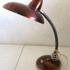 Vintage: LAMPARA FLEXO DE AÑOS 70 APROX (ALTURA 40CM APROX, DIAMETRO 19CM APROX). Lote 29424340