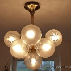 Vintage: LAMPARA DE TECHO SPUTNIK ORIGINAL AÑOS 60 MARCA TEMDE. Lote 29843617