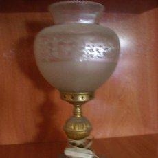 Vintage: ANTIGUA LAMPARA MESITA DE NOCHE CON PIE DE MARMOL AÑOS 70. Lote 30081852