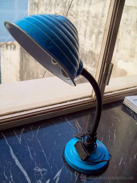 FLEXO VINTAGE AZUL (Vintage - Lámparas, Apliques, Candelabros y Faroles)