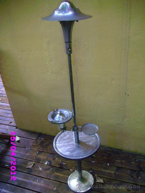Vintage: LAMPARA art deco diseño georges halais lampara cenicero 1930 extincto - Foto 2 - 31308449