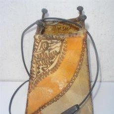 Vintage: LAMPARA DE SOBREMESA EN PIEL PINTADA. Lote 31521091