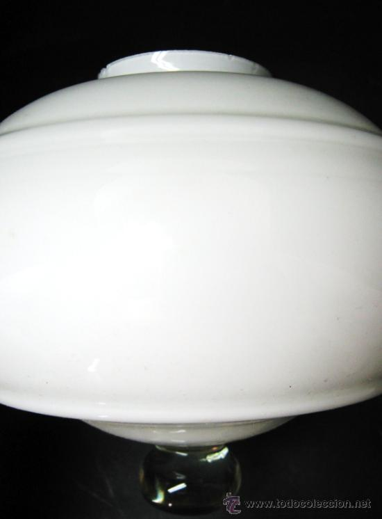 Vintage: ANTIGUA GRAN TULIPA BLANCA - ANCLAJE DE GRAPAS BOCA 6.5 CM. - Foto 2 - 32012822