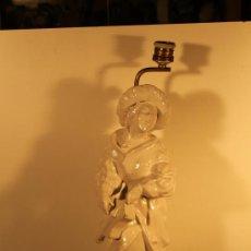 Vintage: LAMPARA CERAMICA TROVADOR MEDIEVAL AÑOS 50. Lote 32711801