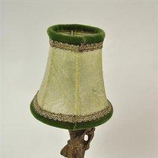 Vintage: LAMPARA DE MESA FIGURA DE NIÑO DE BRONCE. Lote 32598113
