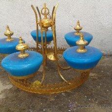 Vintage: LAMPARA VINTAGE RETRO AZUL. Lote 32831593