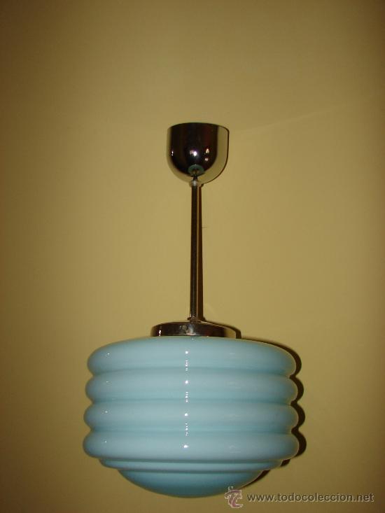 Espectacular lampara antugua de techo art deco comprar - Lamparas anos 20 ...