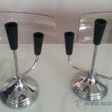 Vintage: PAREJA DE CANDELABROS. Lote 34178651