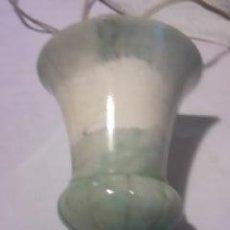 Vintage: EXQUISITA LAMPARA DE ALABASTRO VERDE SUAVE. AÑOS 60/70. Lote 34446490