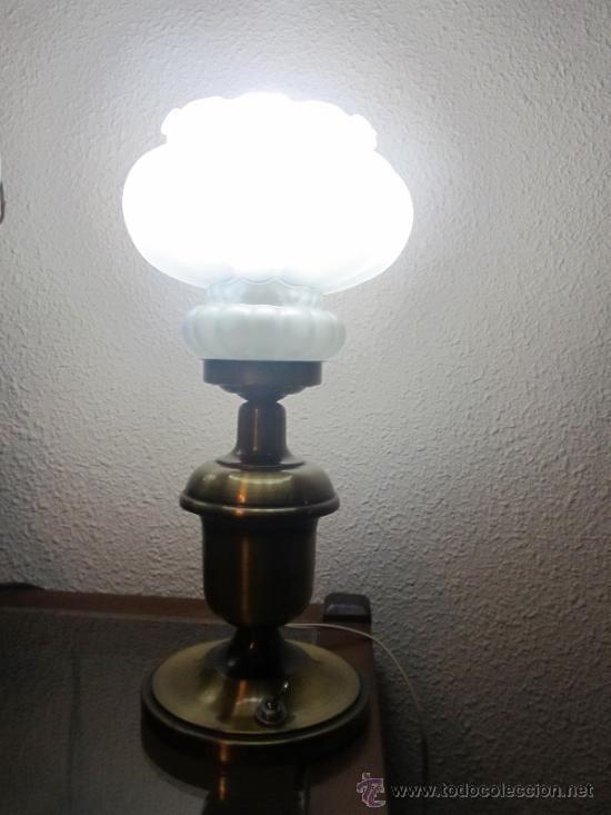 M69 LAMPARA DE SOBREMESA AÑOS 50 (Vintage - Lámparas, Apliques, Candelabros y Faroles)