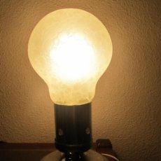 Vintage: M69 ORIGINAL LAMPARA DE SOBREMESA AÑOS 70 CON FORMA DE BOMBILLA. Lote 34465318
