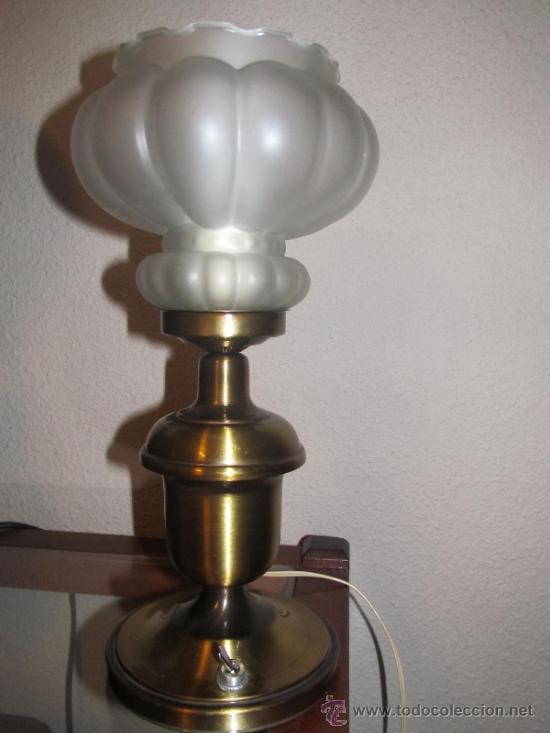 Vintage: M69 LAMPARA DE SOBREMESA AÑOS 50 - Foto 2 - 34465288