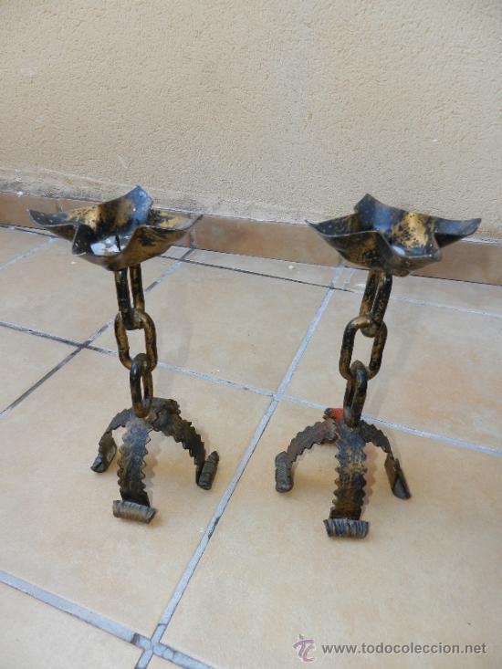 Porta velas candelabros estilo castellano d comprar - Portavelas de hierro ...