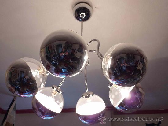 Vintage: LAMPARA TECHO SPUTNIK CROMO-SPACE AGE - Foto 2 - 34638020
