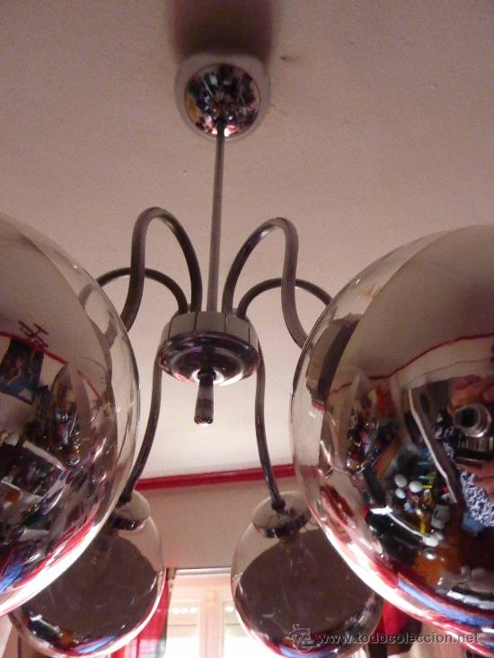 Vintage: LAMPARA TECHO SPUTNIK CROMO-SPACE AGE - Foto 4 - 34638020