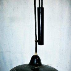 Vintage: ANTIGUA LAMPARA METALICA ALTURA REGULABLE TECHO. Lote 58370916