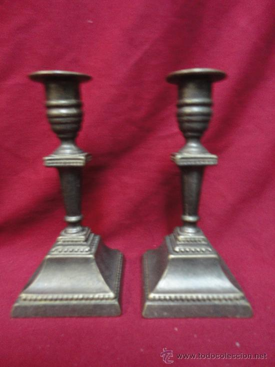 PAREJA CANDELABROS (Vintage - Lámparas, Apliques, Candelabros y Faroles)