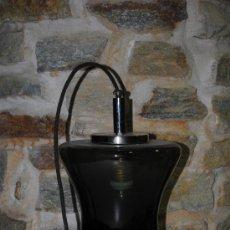 Vintage: BONITA LAMPARA DE TECHO DE DISEÑO VINTAGE, RETRO EN CRISTAL Y ALUMINIO. AÑOS 50-60. 35CM. Lote 35415769