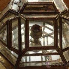 Vintage - APLIQUE PLAFÓN LAMPARA CRISTAL EMPLOMADO EN LATÓN MARROQUI MARRUECOS AFRICA - 35824744