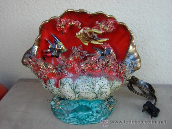 ANTIGUA LAMPARA DE SOBREMESA. VINTAGE. AÑOS 50-60. CERAMICA (Vintage - Lámparas, Apliques, Candelabros y Faroles)