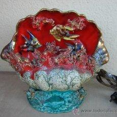 Vintage: ANTIGUA LAMPARA DE SOBREMESA. VINTAGE. AÑOS 50-60. CERAMICA. Lote 35986728