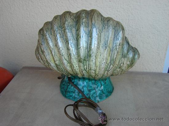 Vintage: ANTIGUA LAMPARA DE SOBREMESA. VINTAGE. AÑOS 50-60. CERAMICA - Foto 3 - 35986728