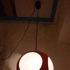 Vintage: LAMPARA TECHO UFO MARRON-VENTANAS BLANCO MATE. Lote 36248597