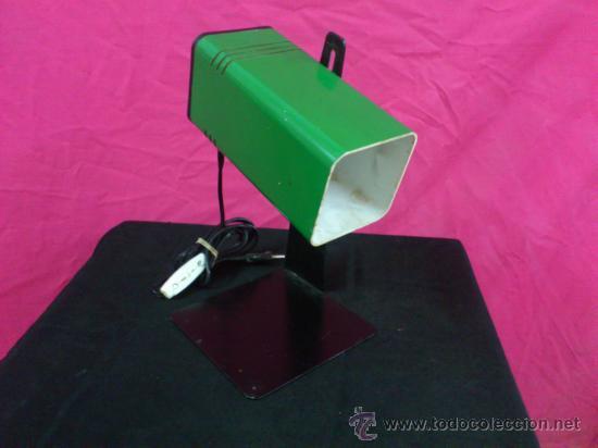 VINTAGE FASE. LAMPARA FABRICA FASE SOBREMESA ESTUDIO AÑOS 60-70 (Vintage - Lámparas, Apliques, Candelabros y Faroles)