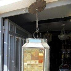 Vintage: LAMPARA FAROL METAL. Lote 37866255