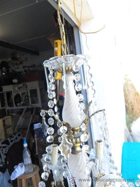 Vintage: lampara de cristal y bronce - Foto 5 - 38360785
